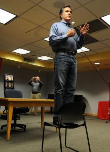 While it is difficult to classify Mitt Romney's occupation, he played the role of author in March, at a Phoenix book signing.