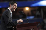 Republican vice presidential candidate, Rep. Paul Ryan, R-Wis., addresses the Republican National Convention in Tampa, Fla., Wednesday, Aug. 29,...