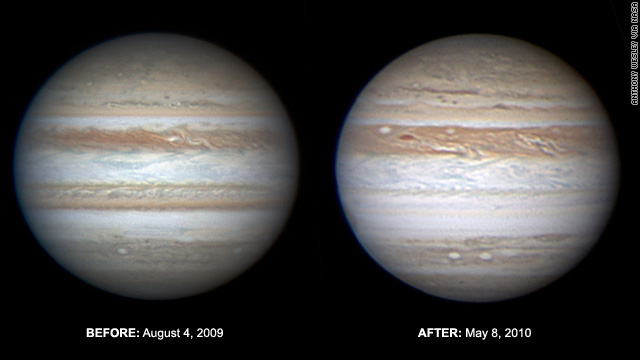 Jupiter's South Equatorial Belt started fading late last year, NASA said in a story on its website.