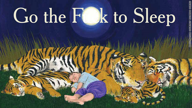 """Ricardo Cortés illustrates """"Go the F**k to Sleep,"""" and each of its 32 pages is written in the style of a children's picture book."""