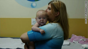 Two-month-old Casey got a clean bill of health after her mother, Jessica, stopped using drugs late in her pregnancy.