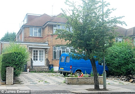 Luxury: The house lived in by the travellers has five bedrooms and three bedrooms