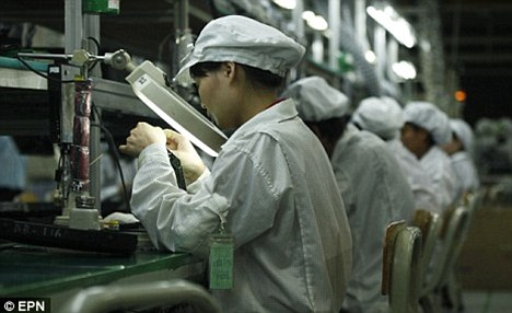 Production line: The investigation found illegal amounts of overtime was rife and workers claimed they were not allowed to talk during shifts