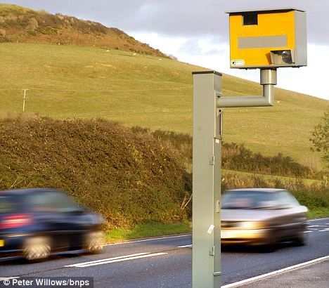 The speed camera on the A35 at Chideock, Dorset, which was deemed illegal after an error was found on its registration document