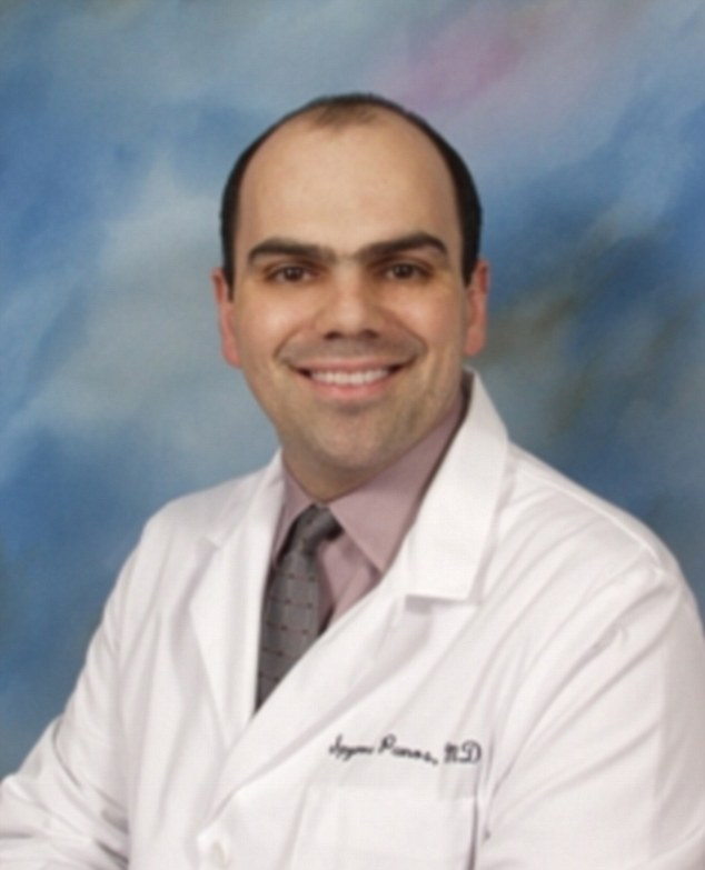 Under fire: Dr. Spyros Panos is accused of performing 'phantom surgeries' on dozens of patients, and is blamed at least one known death