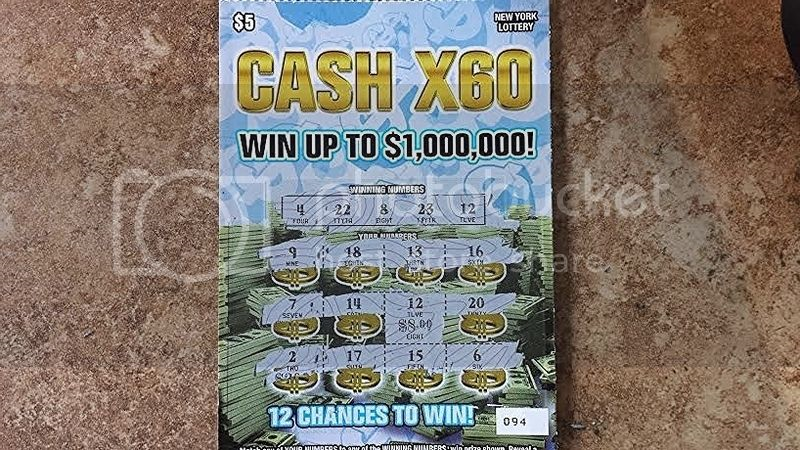Instant winner scratch off