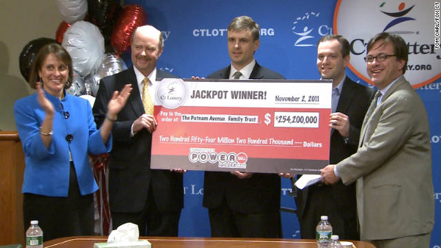 Three co-workers in Connecticut won the $254 million Powerball jackpot but opted for a one-time cash payout of $103.5 million.