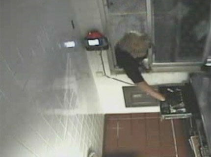 Police said the suspect opened the drive-thru window at a Midwest City McDonald's and stole money from a cash register.