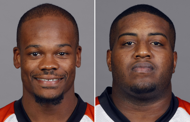 Jerome Simpson, left and Anthony Collins