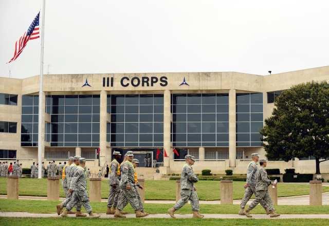 A Fort Hood headquarters building