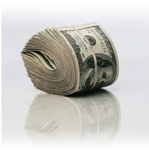 Bankroll of $100 Bills