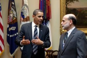 Barack Obama And Ben Bernanke