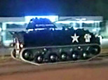 The tank chased by Australian police. (BBC)