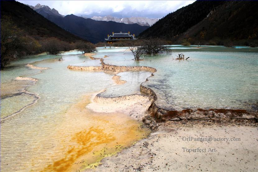 3 Chinese landscape in HuangLong Plateau
